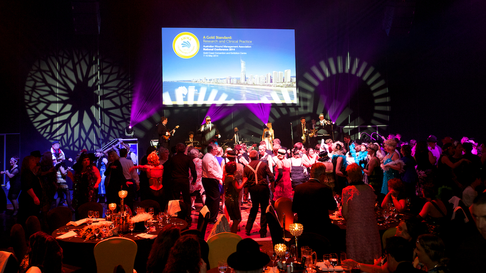 Conference themed dinner at Gold Coast Convention & Exhibition Centre