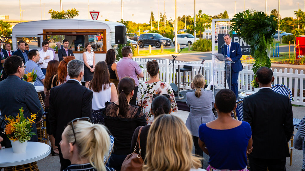 Official opening event at Brisbane Airport