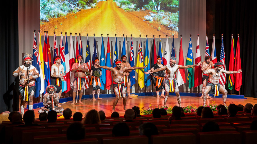 Welcome to country ceremony at a Brisbane government conference