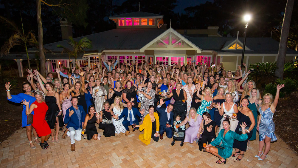 Corporate event group photo at the InterContinental Sanctuary Cove Gold Coast