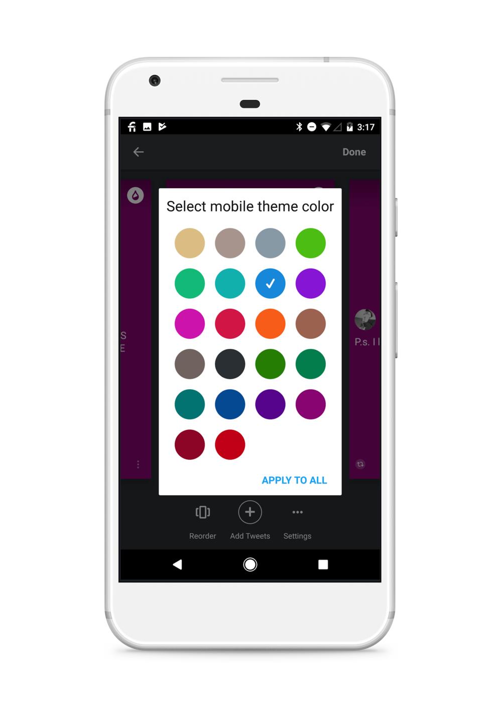 Select a color. -