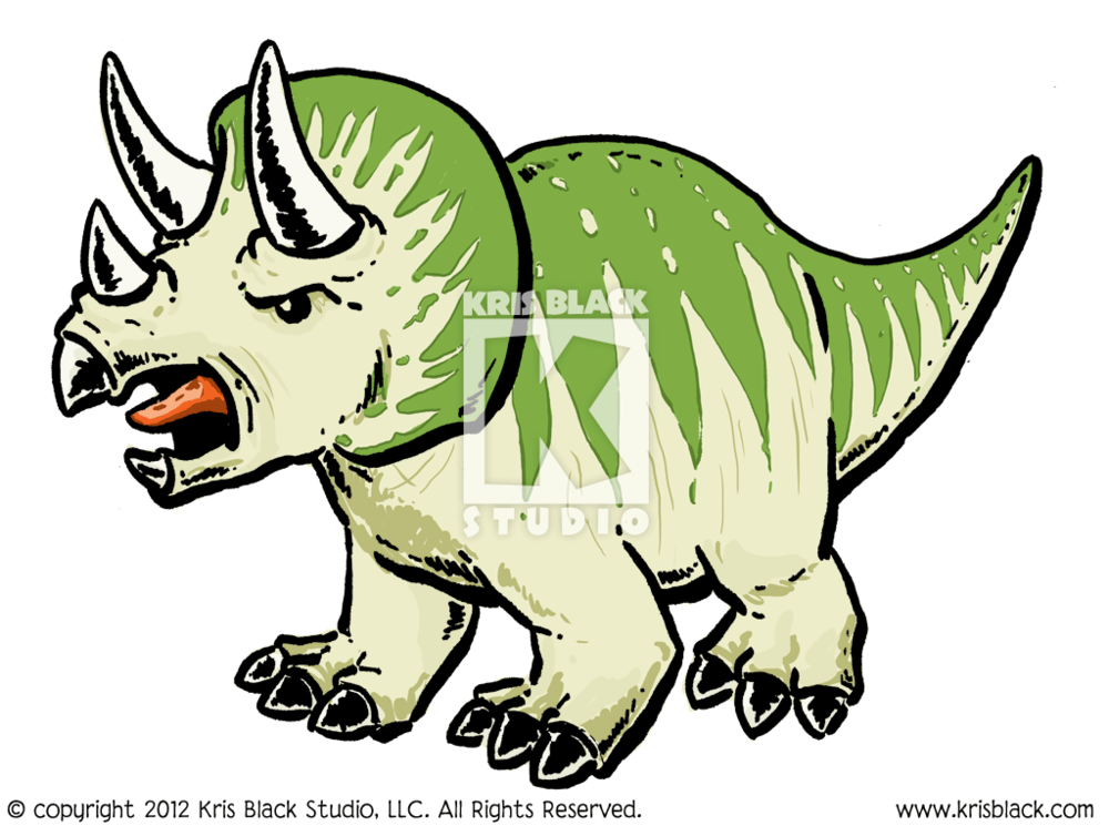 Triceratops illustrated by Kris Black