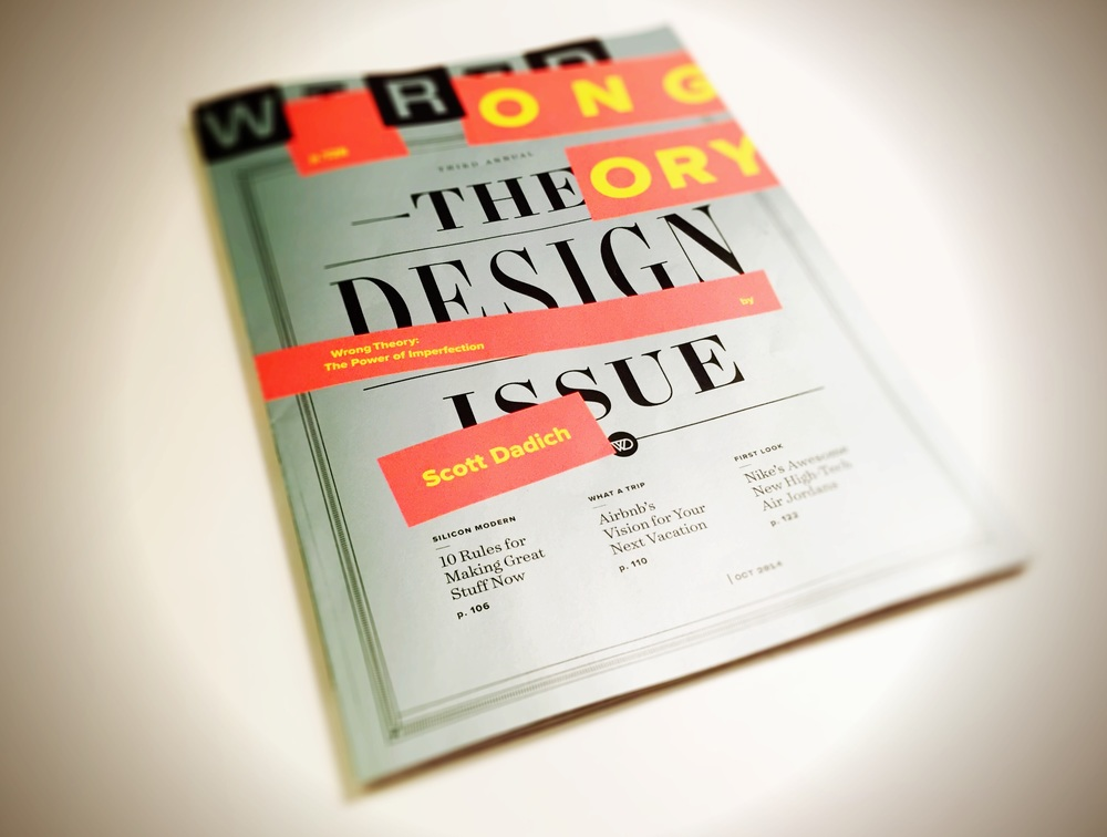 Cover of WIRED, October 2014: The Design Issue