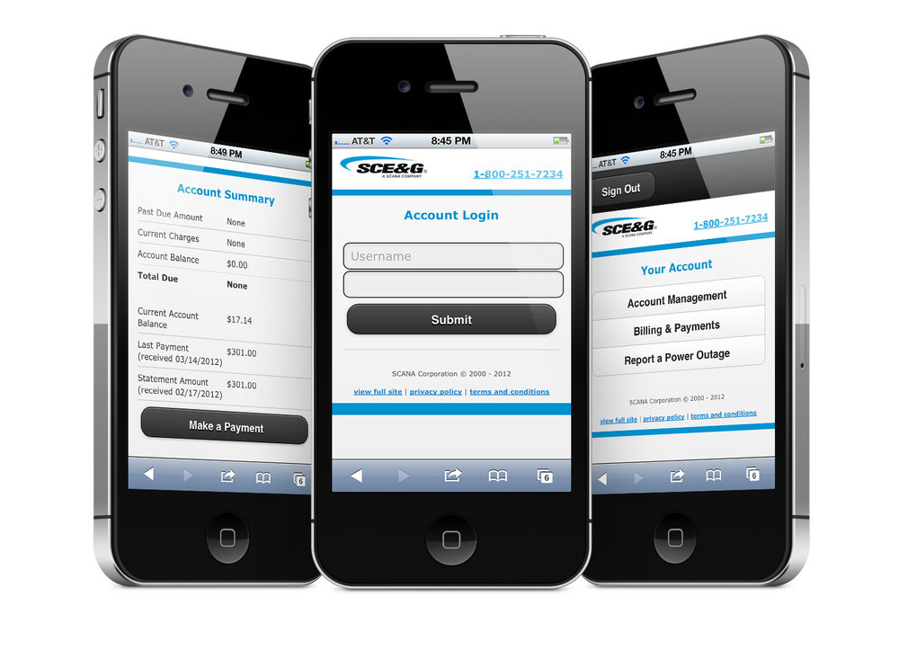 SCE&G Mobile Account Management