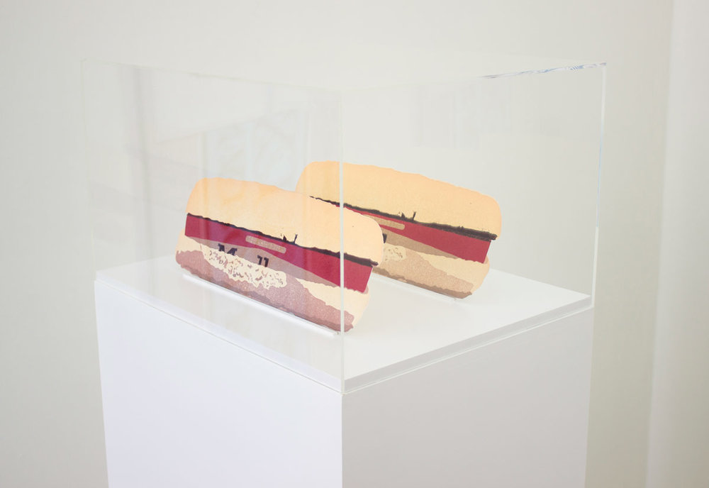 Cigarette Sandwich (After the Deutsches Zollmuseum) , relief prints, MDF, lacquer, acrylic - 2016