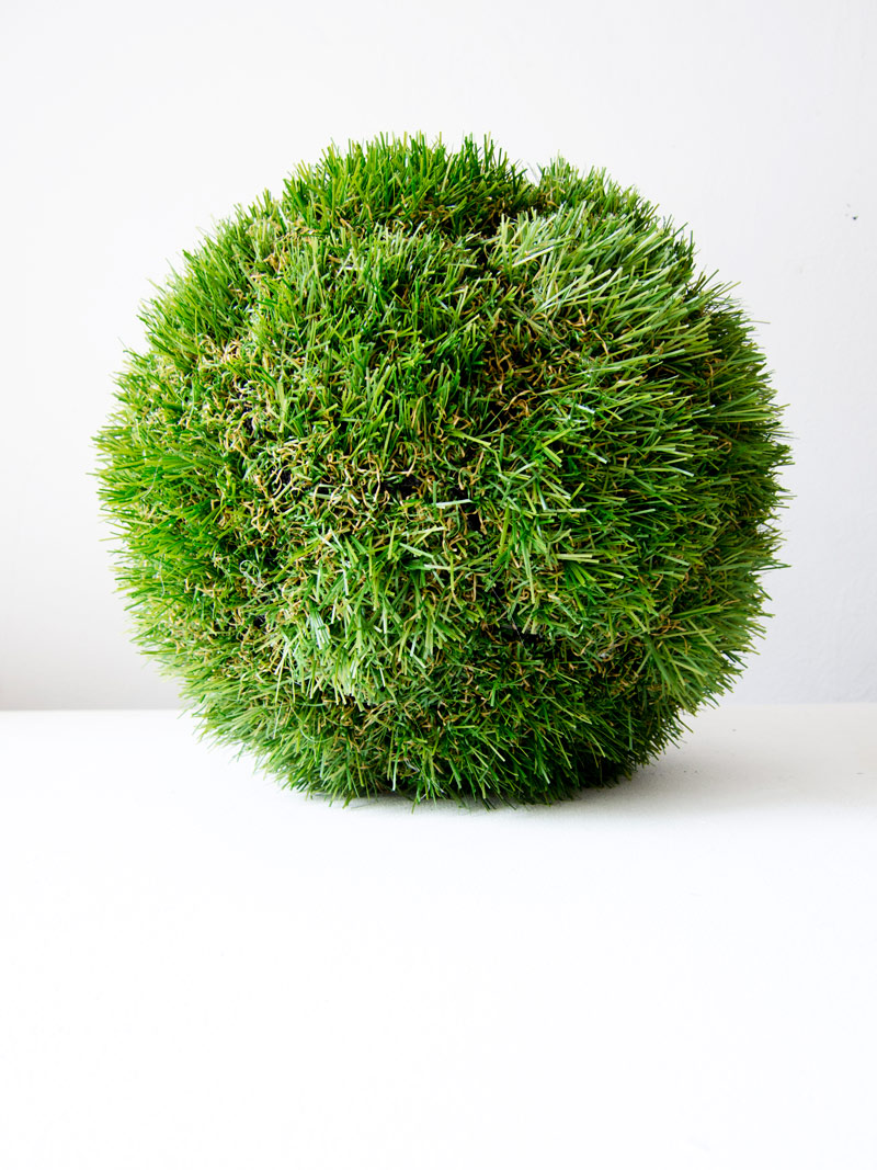 Smuggler's Football (Nothing to See Here) , faux turf, nylon thread - 2014