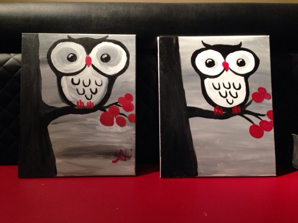 My first and last Paintings both happened to be the same Owl. Here they are side by side as a perfect example of point no.3