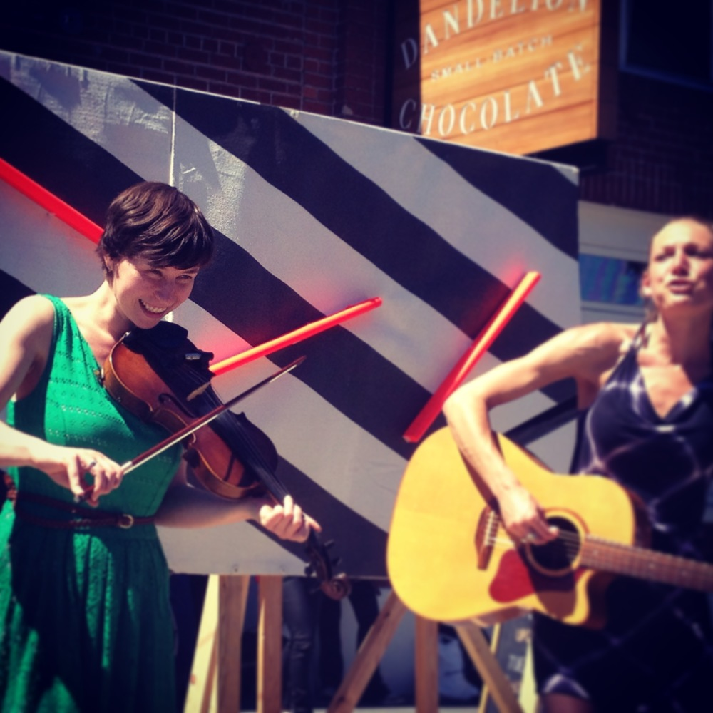Kate Goldstein & Hannah Gallagher at Sunday Streets