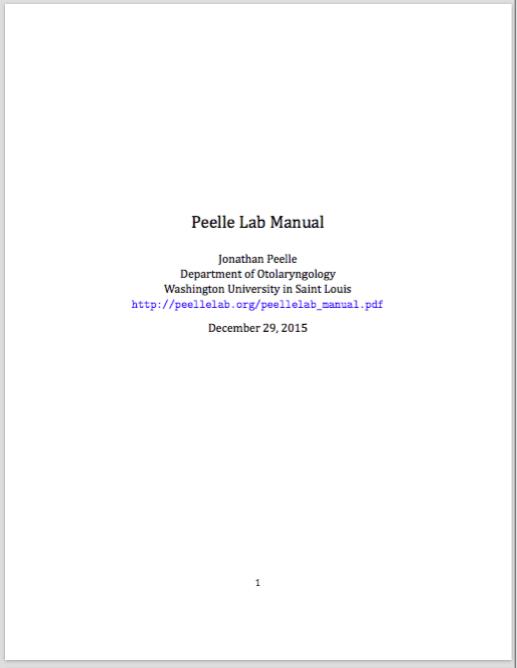Maintaining a lab manual — Jonathan Peelle