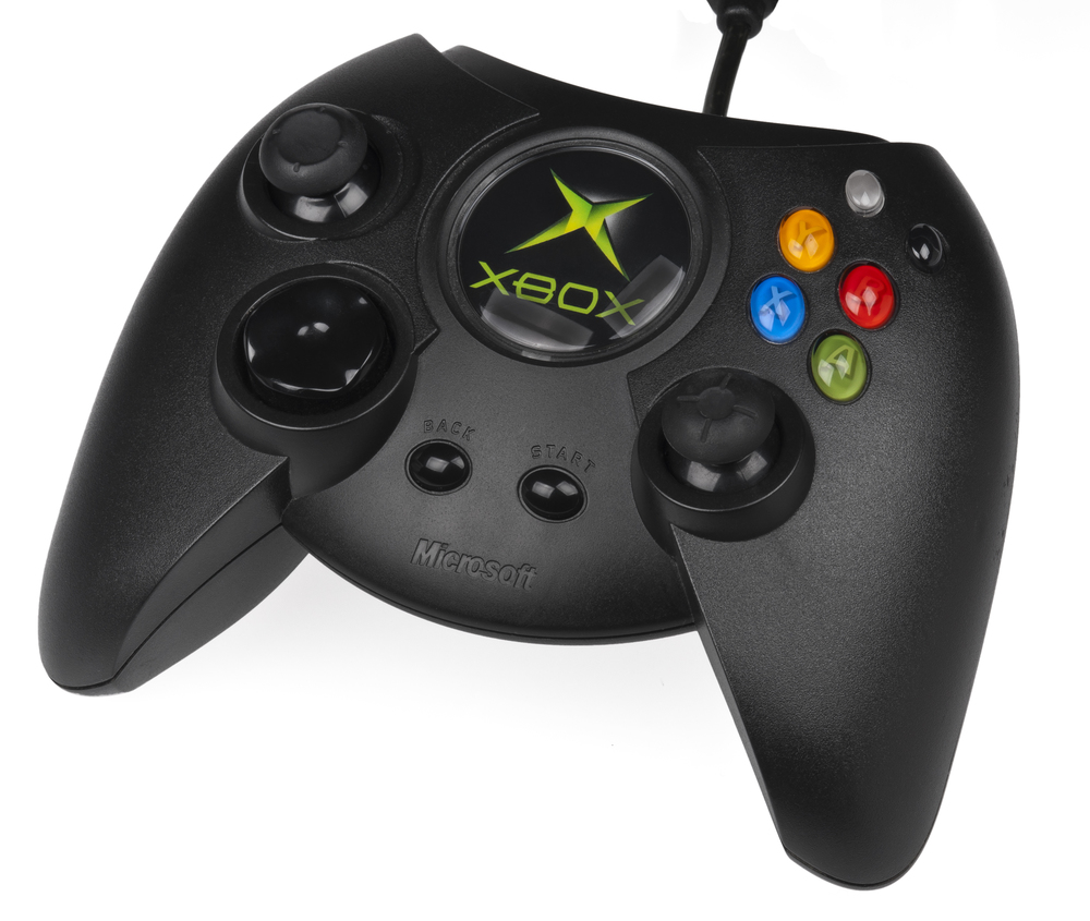 Seriously, the logo takes up MOST of the controller.  via Wikipedia