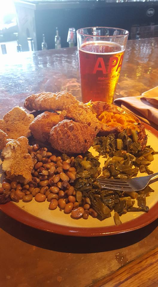 I stopped by Railyard for their Friday lunch special featuring fresh and local catfish, collards, black-eyes peas, sweet potato and freshly brewed Oktoberfest beer.