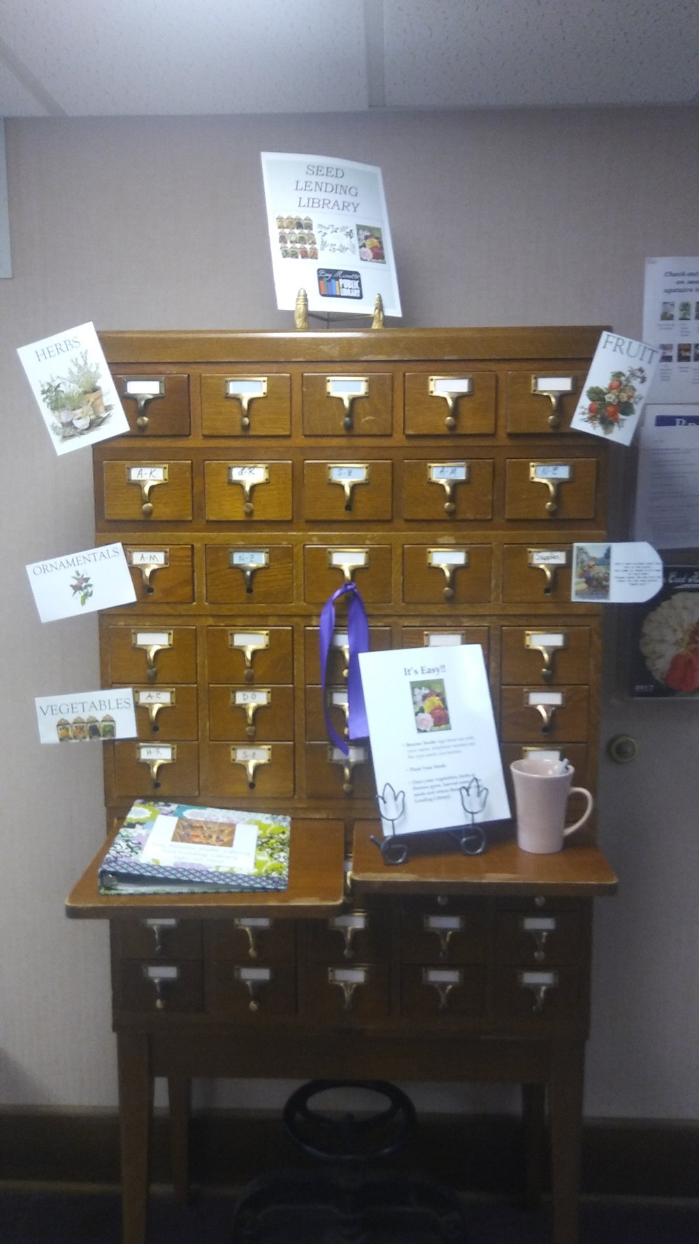 """Seed catalog"" at the Bay Minette Public Library"