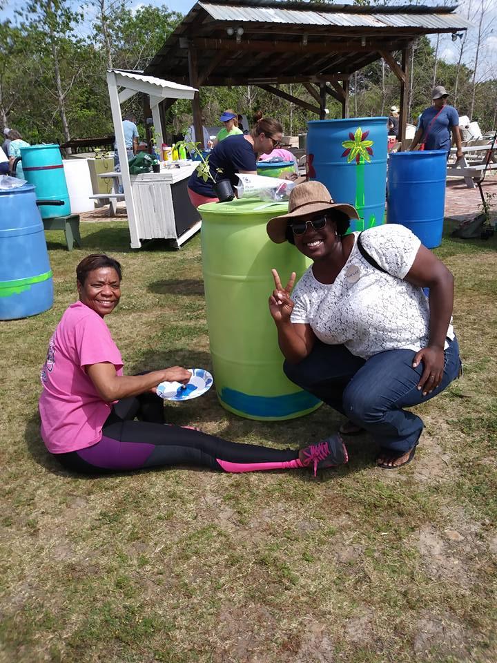 Natilee helping with 2017 Rain Barrel Workshop