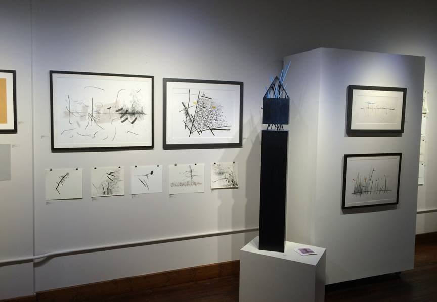 The exhibition has works on paper and sculpture