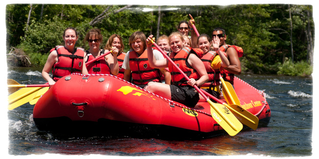 A fun weekend raft trip for Camp Scully Staff.
