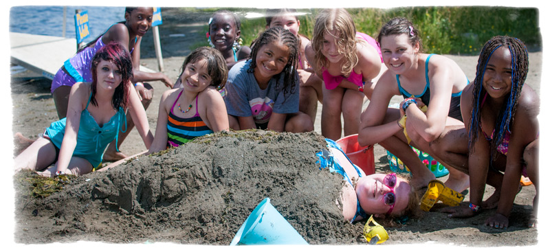 Burying the counselor is a big favorite at Camp.