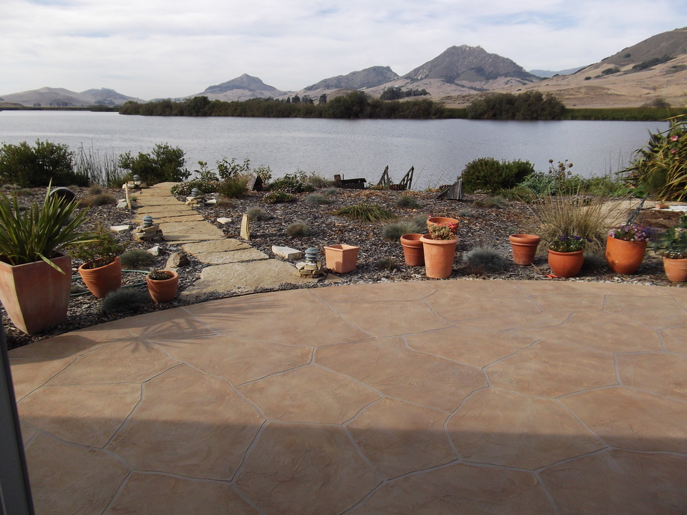 Arizona flagstone overlay in San Luis Obispo