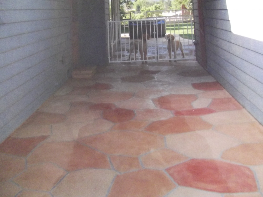 Multi-colored flagstone in Santa Margarita