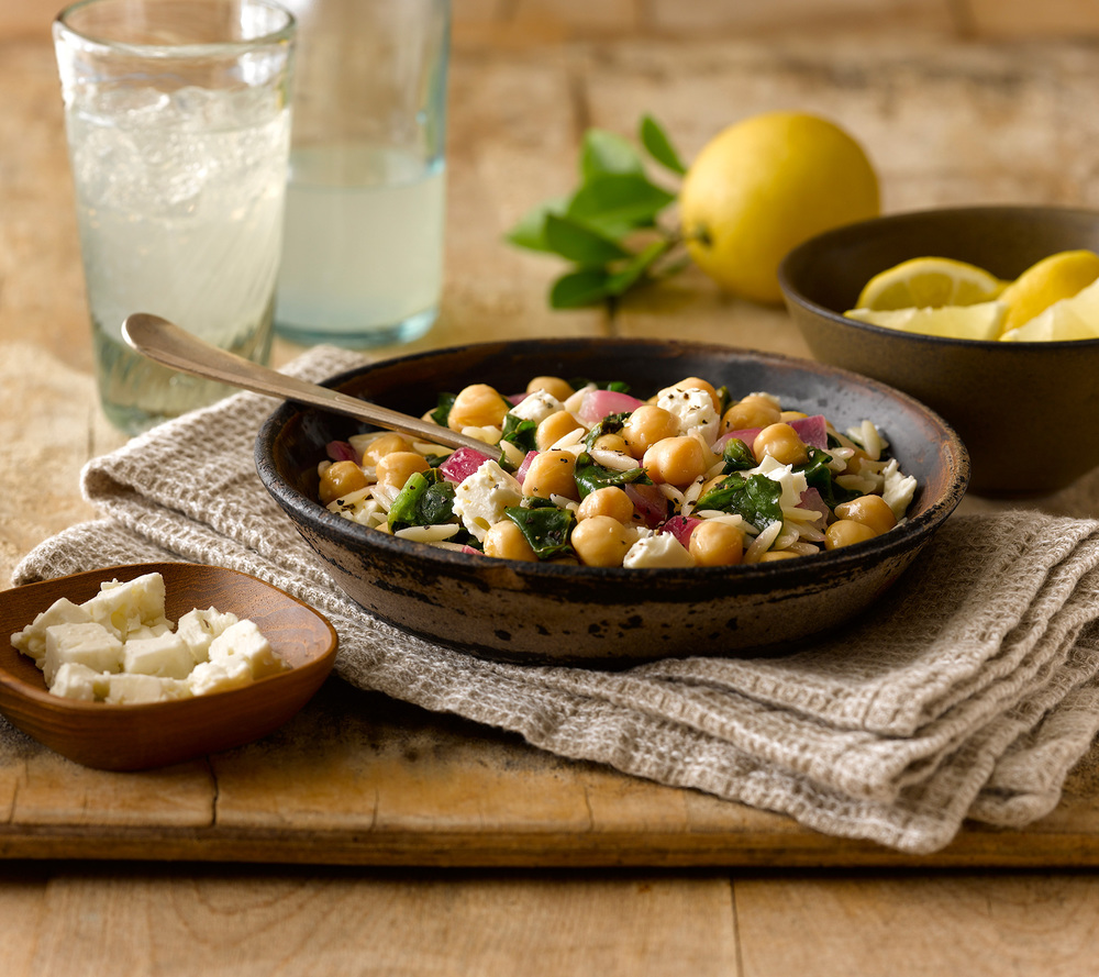 Orzo Chickpea Skillet
