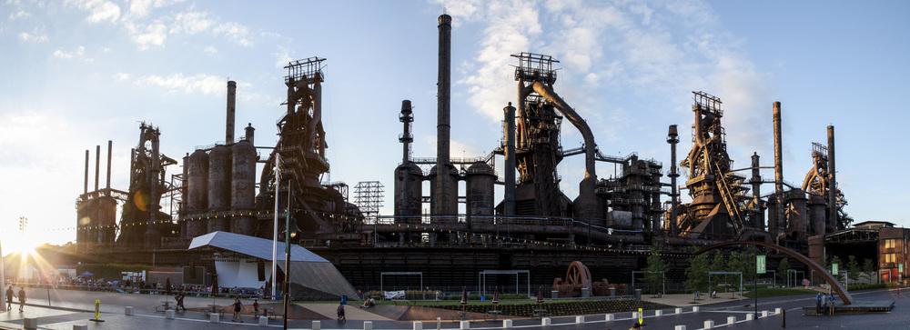 Bethlehem, Pennsylvania What's left of Bethlehem Steel (click to enlarge)