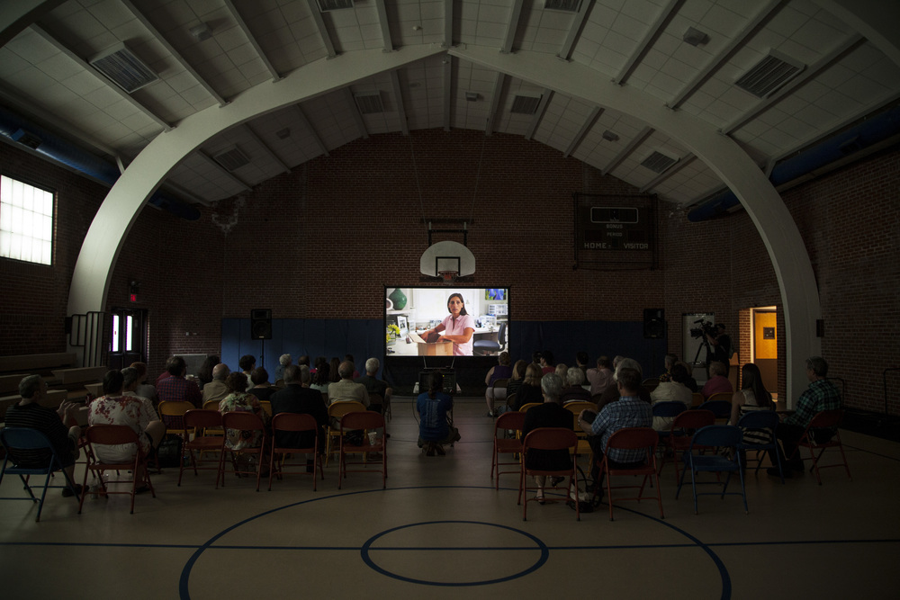 Cromwell, Connecticut Screening the film in the city hall gymnasium. Awesome.
