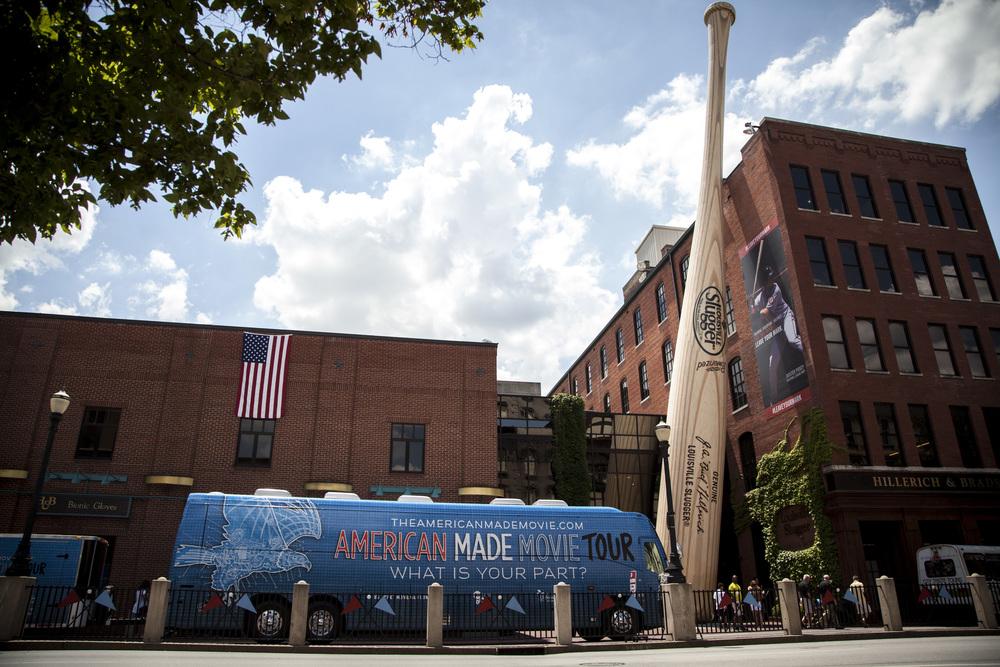 Louisville, Kentucky  That's a big bat...