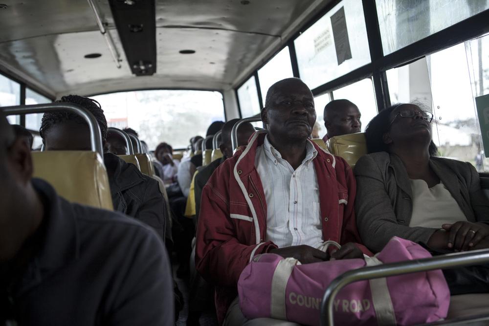 Riding the matatu.