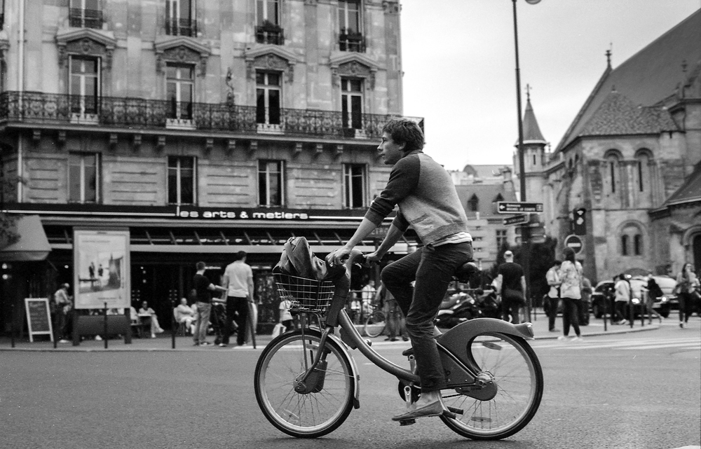 Bicycle culture amazes me in Europe. Paris, France