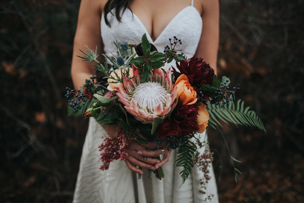 king protea autumn bouquet by Rook & Rose.jpg