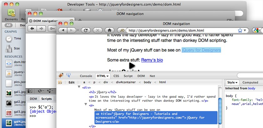 via jqueryfordesigners.com jQuery for Designers is a project that I've been meaning to get around to for about a year before the first post went live. Hopefully it will help serve the design community and bridge a little of the barrier to the funky interaction stuff. http://jqueryfordesigners.com/