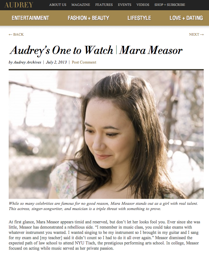 Featured on Audrey Magazine