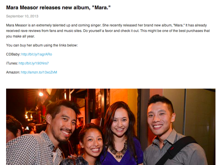 Mara Measor releases new album   Mara.  — OneReasonRecordings.png