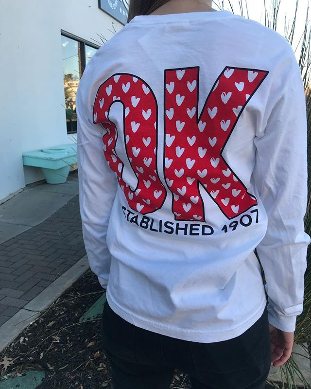 These long sleeves will keep you and your heart warm just in time for Valentine's Day!