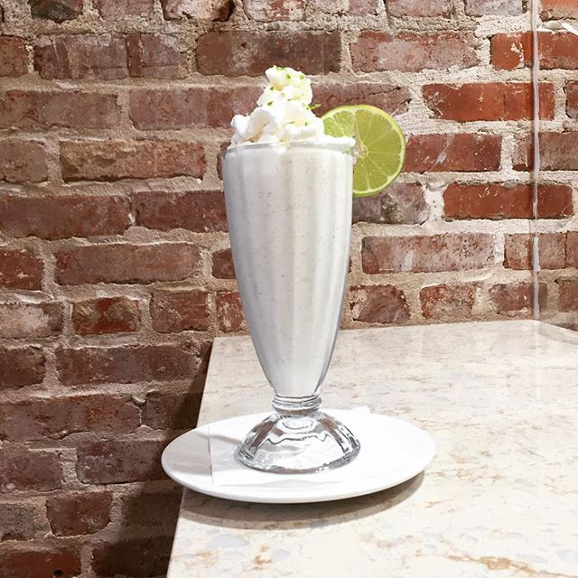 "Today is National Pie Day! And while we don't have actual slices, (for that, we would strongly recommend our lovely downtown @tulartsdist neighbor, @antoinettebakingco) - but we do have the next best thing! Our Main Street soda fountain may be only place in town with key lime pie that you can drink thru a straw! Come in for one of our original menu items: the ""Key Lime Pie Freeze"" - a perfect combination of lime phosphate, @bluebellicecream vanilla bean ice cream, graham cracker crumbles, homemade whipped cream, lime zest, and a lime wheel!  It'll knock your socks off!  #SweetTreats #NationalPieDay #Tulsa #DowntownTulsa #TulsaArtsDist #KeyLimePie #BlueBellIceCream"