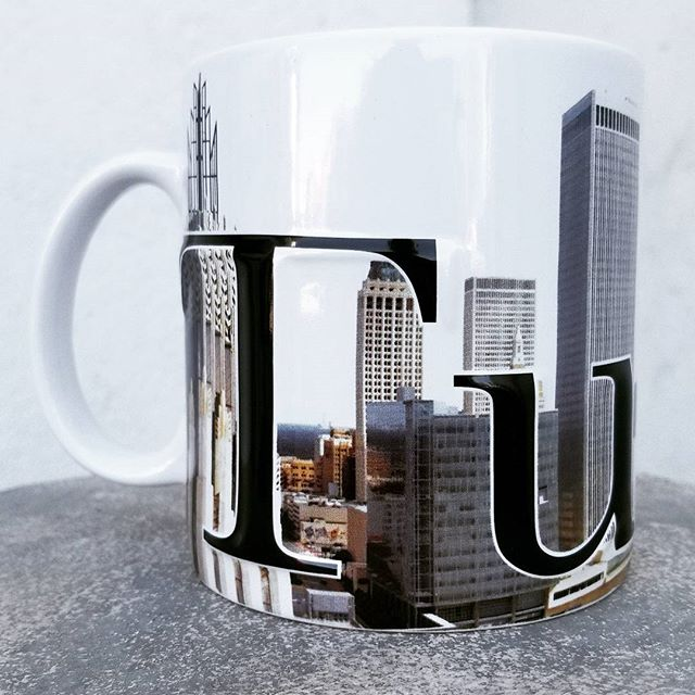 Just like our city itself, these new Tulsa mugs have a lot going on!