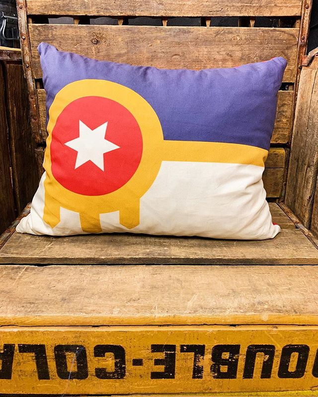 Swipe to see our vibrant collection of Tulsa destination napper pillows! from @thenapnook . . . . . . . #tulsa #idared #oklahoma #shop #shoplocal #local #shopsmall #tulsaok #tulsaoklahoma #brookside #downtowntulsa #downtown #keepitlocal #keepitlocalok #tulsaflag #missjacksons #penningtons #firstmethodist #goldendriller #bellsamusementpark #deserthillsmotel #trippets #annsbakery