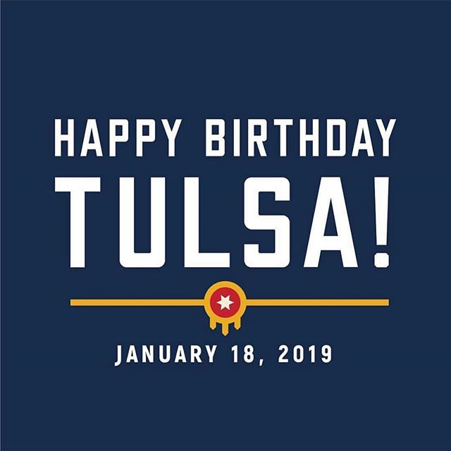 What a city we live in! Happy birthday Tulsa! We ❤️ you so much! #happybirthday