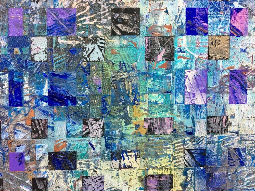 Saphire Creek Painting series number 1. Detail of work in progress