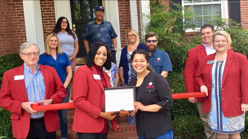 Ribbon cutting performed by the Tallahassee Chamber of Commerce.