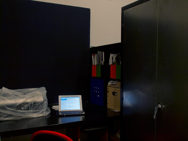 Desk alcove.