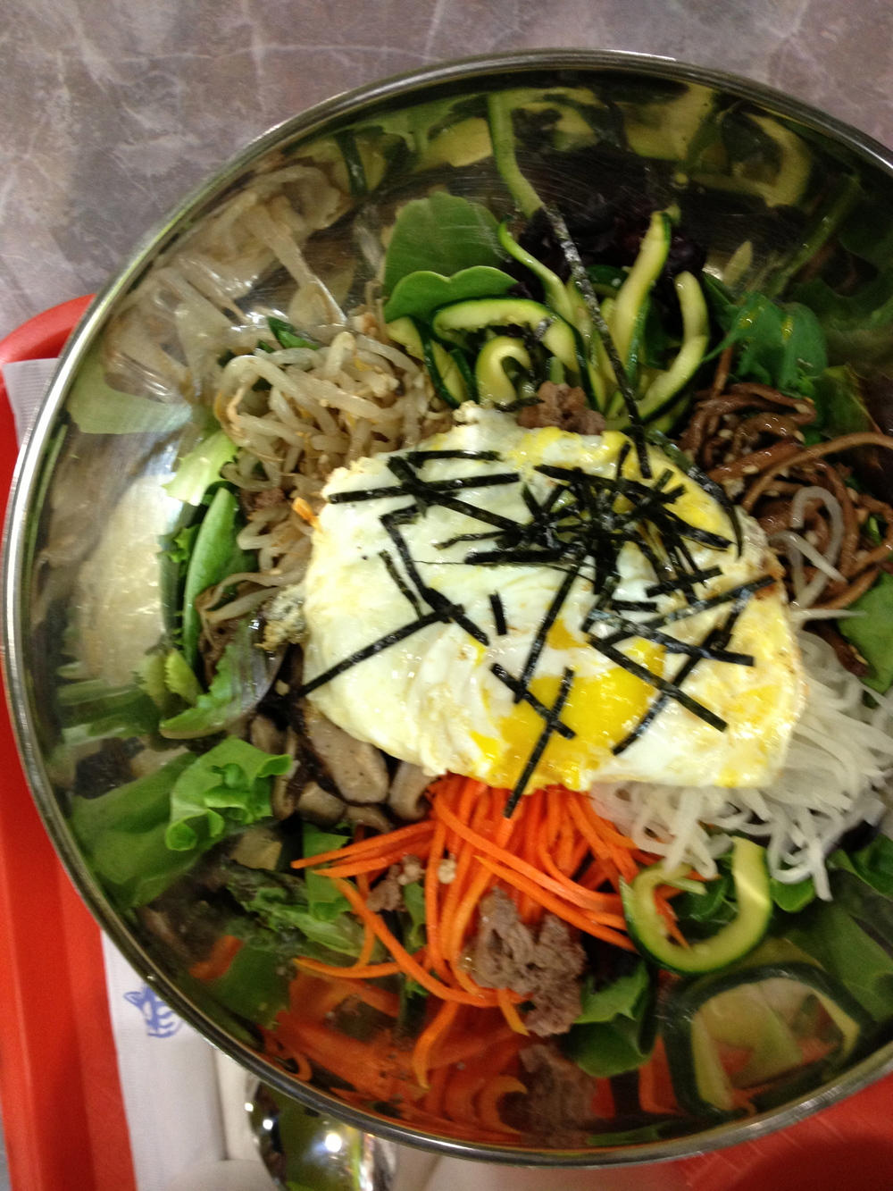 Bibimbap at my favorite Korean place in NYC