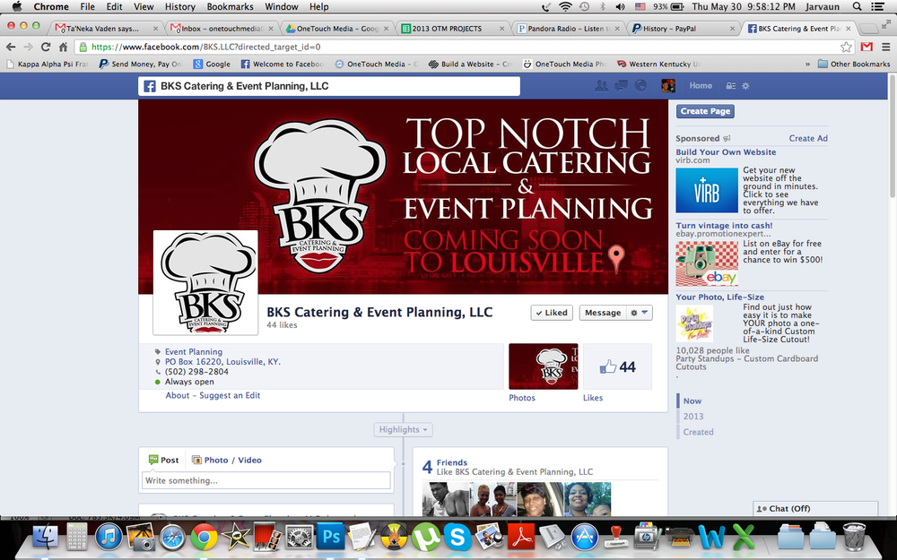 Logo and Facebook banner created by OneTouch Media!