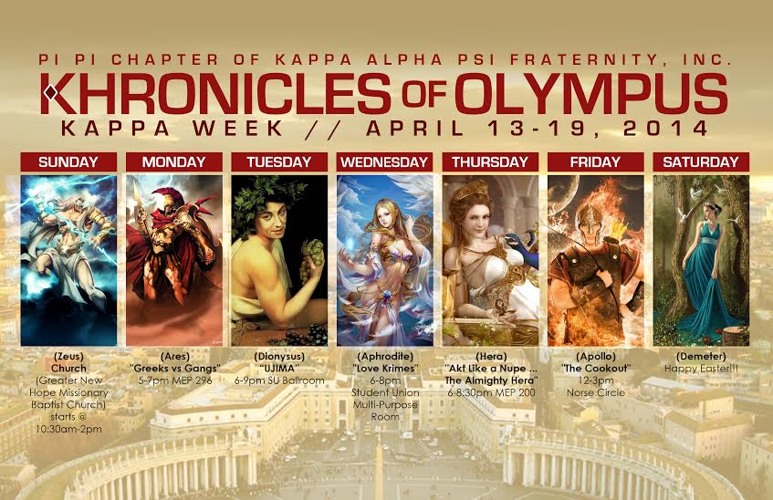 pi pi chapter kappa week flyer