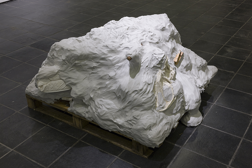 Jenny's Head Fell Off, 2014, Pieces from a ditch, 3 x 4 x 4'