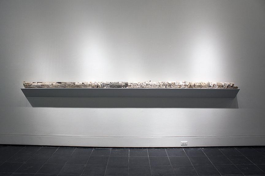 "Some Stuff (detail), 2014, Core Sample of Studio Debris, 4 x 4 x 136"""