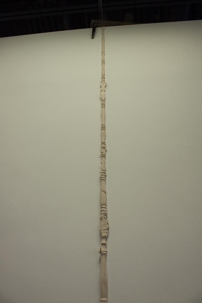 Puh, 2014, Latex and Wood, 17.5 x 6 x 2'