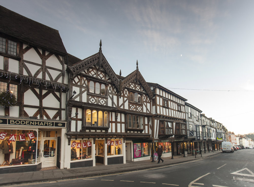 Historical Ludlow, Shropshire. A picture perfect market town.