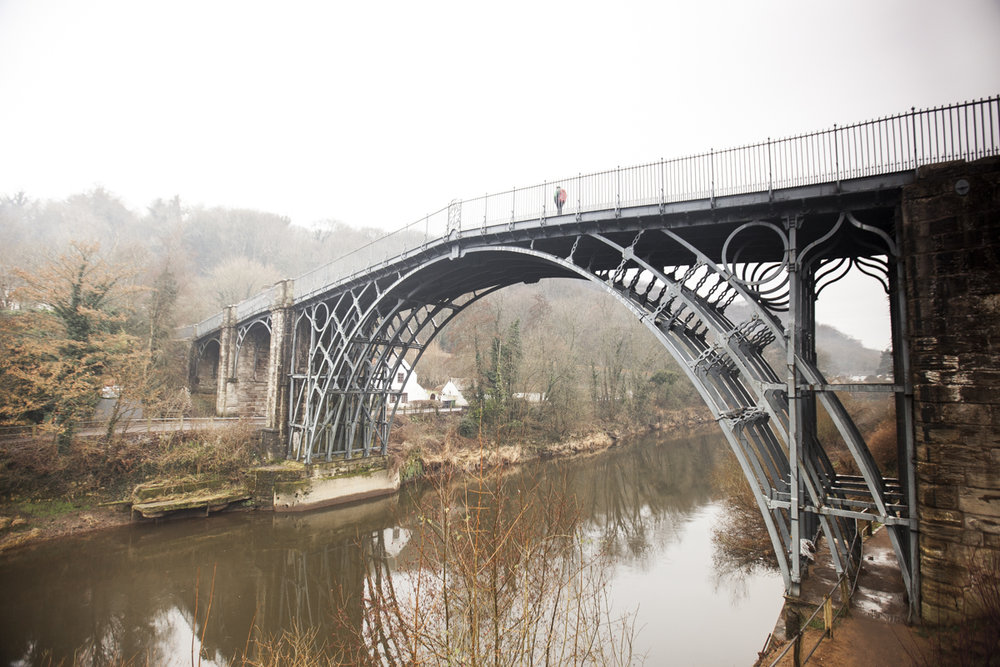 The Ironbridge circa 1779 and the wonderful River Severn below.