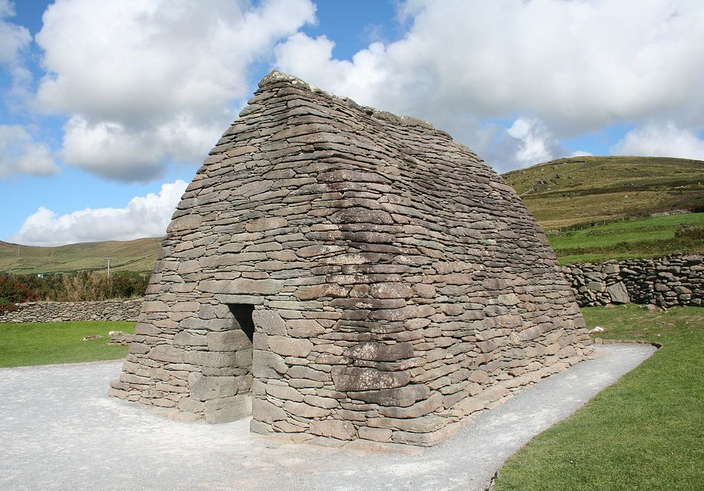 The pods were originally designed by UK engineer Ian Bone who was inspired by early Christian structures such as the  Gallarus Oratory  beyond Dingle, Co Kerry many years ago.