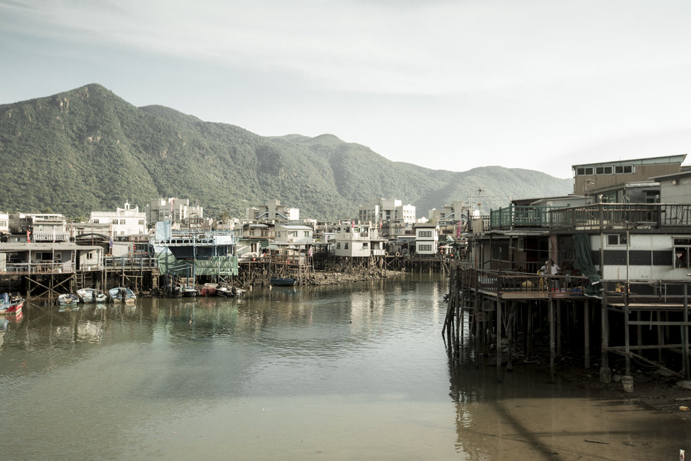 The stilt houses in Tai O.